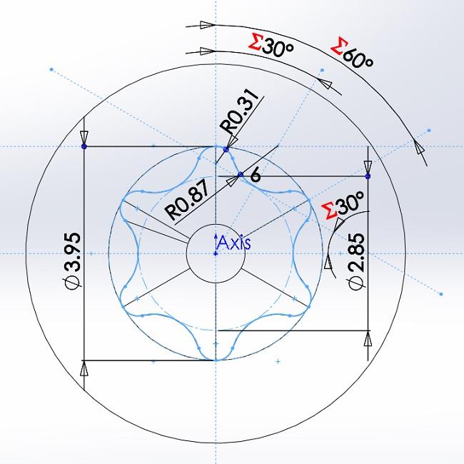 6 lobe drive design