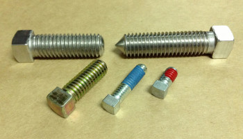 square bolt with nylon patch